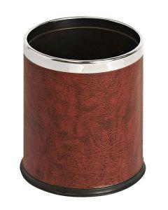Leather Effect Hide a Bag Waste Paper Bin - 10 Litre