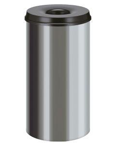 Stainless Steel Self Extinguishing Waste Paper Bin - 2 Sizes