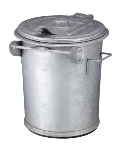 Galvanized Steel Dust Bin - 70 Litres