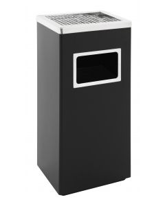 Square Litter and Cigarette Bin - 14.5 Litre