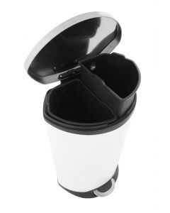 EKO Shell Recycling Bin - 2 x 22 Litre Compartments