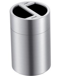 Large Aluminium Recycling Bin - 2 x 60 Litre Compartments