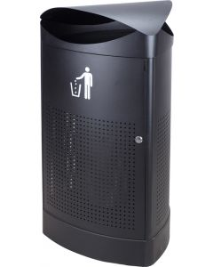 Triangular Outdoor Litter Bin - 60 Litre