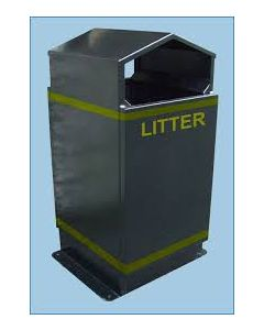 Apex Outdoor Litter Bin - 80 Litre