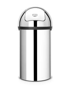 Brabantia Stainless Steel Push Flap Bin - 60 Litre