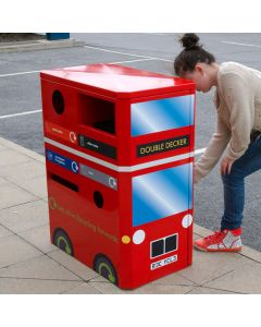 Double Decker Bus Recycling Bin