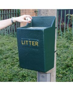 Post Mountable Open Top Litter Bin - 22 Litre