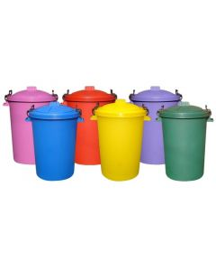 Coloured Outdoor Plastic Dustbin with Lockable Lid - 85 Litre
