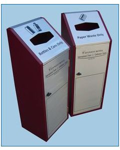 Recycling Bin with Painted Sides - 80 Litre