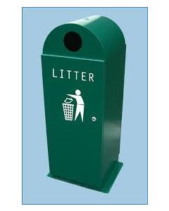 Dome Top Outdoor Litter Bin - 120 Litre