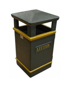 Glass Fibre Composite Outdoor Litter Bin - 112 litre