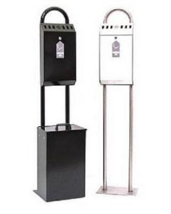 Floor Standing Cigarette Disposal Bin with Optional Litter Bin