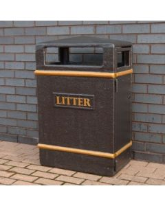 Glass Fibre Slim Outdoor Litter Bin - 98 Litre