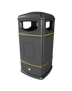 Heritage Square Hooded Outdoor Litter Bin - 115 Litre