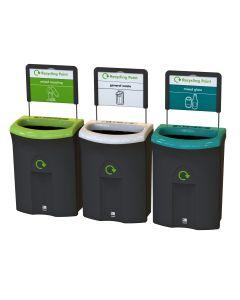 Meridian Open Aperture Recycling Bin - 110 Litre