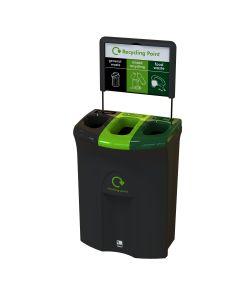 Meridian Triple Recycling Bin - 110 Litre