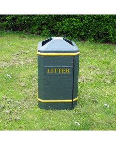 Semi-Open Top Litter Bin - 112 Litre
