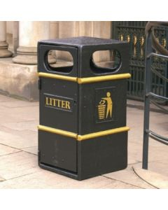 GFC Closed Top Litter Bin - 84 Litre