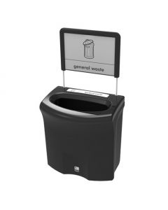 Mini Meridian Open Aperture Recycling Bin - 87 Litre