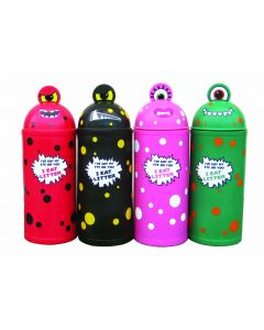 Colourful Monster Litter bin in 2 Sizes