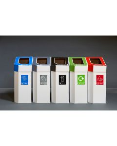 MyBin Classic Set of 5 Recycling Bins - 60 Litre