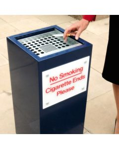 Square Metal Cigarette End Bin - 56 Litre