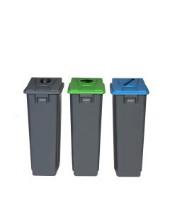 Slim Profile Recycling Bin - 60 & 80 Litre Capacity