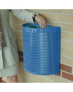 Semi-Circular Open Top Litter Bin - 28 Litres