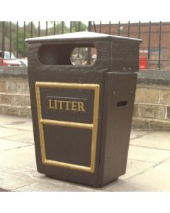 GRC Closed Top Litter Bin - 84 Litre