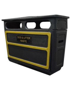 GRC Closed Top Litter Bin - 168 Litre