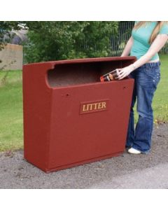 Fire Retardant Reinforced Semi Open Litter Bin - 154 Litre