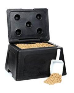 Salt and Grit Bin with 25kg of Rock Salt - 30 Litre
