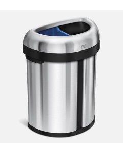 Semi-Round Recycling Bin - Simplehuman