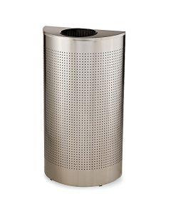 Half Round Litter Bin - 45 Litre