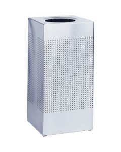 Square Silhouette Litter Bin with Liner - 37 Litre
