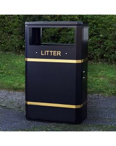 Heavy Duty Outdoor Slimline Bin - 90 Litres