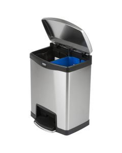 Slim Jim Step-On Metal Recycling Bin - 30 Litre