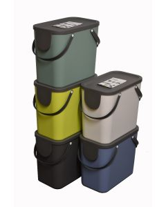 Slim Profile 25 Litre Stackable Recycling Container
