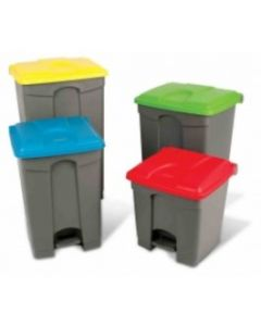 Step on Container with Coloured Lids - 70 Litre