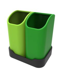 Desktop Tiny Tidy Recycling Bin - 2 x 2.5 Litre