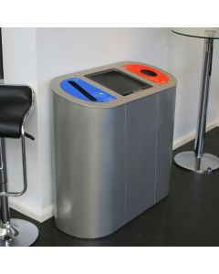 Torpedo Triple Recycling Station With Lift Up Lid and Graphics - 162 Litre