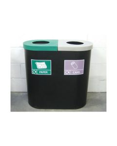 Twin Recycling Bin - 2 x 70 Litre Compartments
