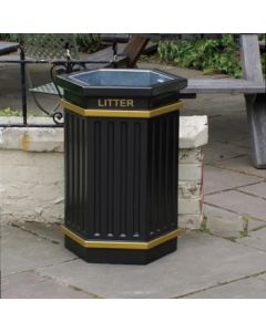 Hexagonal Open Top Litter Bin - 84 Litre